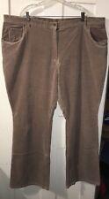 VERANESI Corduroy Bootcut Jeans Women's Plus 32T Tall Tan 4A