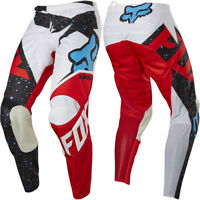 FOX RACING YOUTH KIDS MOTOCROSS 180 PANTS NIRV WHITE / RED quad bike trousers