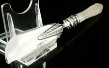 Antique Silver Butter Spreader Curler Mother of Pearl Handle 1854