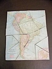 Lot Of Six Vintage Cardboard Cut-out Geography Maps Teaching Aids