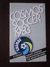 New York Cosmos 1983 Schedule Giants Stadium The Meadowlands Ex/Nr Mt