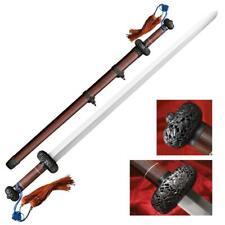 NEW War Sword Cold Steel Battle Gim Jian Chinese Sword Damascus Steel Live Blade