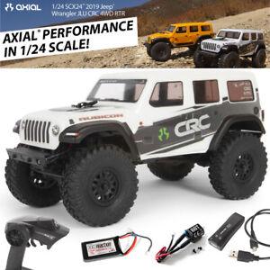 Axial AXI00002T1 1/24 SCX24 2019 Jeep Wrangler JLU CRC Rock Crawler 4WD RTR Whte