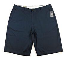 Volcom Vmonty Shorts Mens Navy Blue Flat Front