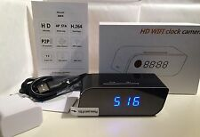 1080P HD 160º Wide Angle WIFI Spy Clock Night Vision Hidden Camera DVR Camcorder