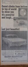 1964 newspaper ad for Mercury - Comet climbs from bottom to top of world
