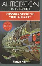 """Mission secrète """"oeil géant"""" .K-H SCHEER.Anticipation 1036  SF51"""
