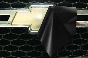 Chevy Vinyl Sheet x2 fits Chevy Bowtie Emblem Logo Matte Black Decals U-CUT Trim