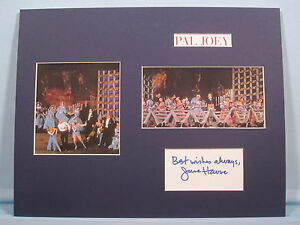 """Rodgers & Hart musical - """"Pal Joey"""" signed by June Havoc as Gladys Bumps"""