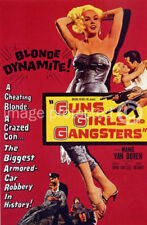 Vintage Movie Poster Guns Girls and Gangsters -24x36