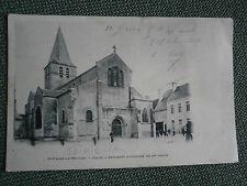 cpa 58 village de Nièvre ST PIERRE LE MOUTIER l'église 1904