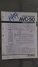 Yamaha avc-50 service manual original repair book stereo amp amplifier