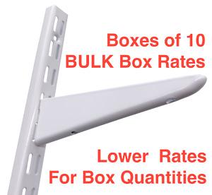 Twin Slot Shelving UK System Wall Upright Bracket Adjustable shelf BULK BOXs 10s