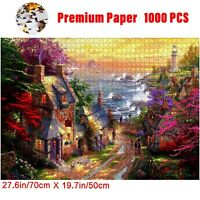1000 Pieces Rural Cottage Jigsaw Puzzle DIY Adult Puzzles Kids Educational Toy