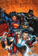 Shane Davis SIGNED JLA Art Print Superman Batman Wonder Woman Shazam
