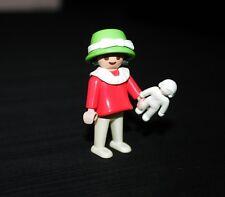 Playmobil époque victorienne enfant fillette robe rose avec poupée 5403