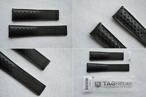 NEW & GENUINE Tag Heuer Monaco Carrera Perforated 22mm / 18mm Leather Strap