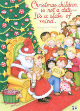 Christmas State Of Mind-Handcrafted Mall Santa Magnet-W/Mary Engelbreit art