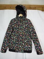 Burton the white collection Dry-Ride Flowered Women's Snow Ski jacket Size LARGE