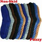 Внешний вид - 6 Pairs Men Soft Cozy Fuzzy Socks Non-Skid Plain Solid Winter Home Slipper 10-13