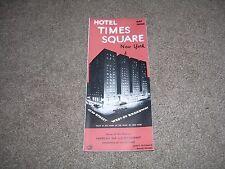1940's Hotel Times Square Brochure Map Photos, Vintage & Original