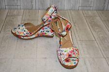 J Renee Alawna Sandals, Women's Size 11 m, White Floral