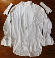 Aertex tunic collarless dress shirt 15.5 + collars Marcella UNUSED vintage 1950s