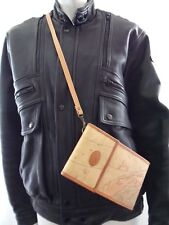 ALLAN EDWARD World Map Crossbody Wallet Organizer Handbag Purse