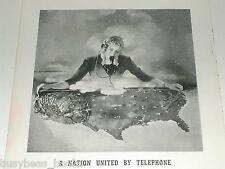 1940 Bell telephone advertisement, long distance operator, USA map