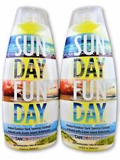 2 Tanovations Ed Hardy Sun Day Fun Day Indoor Tanning Lotion 10 oz Bottles