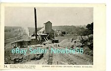 Rushland PA - QUARRY & STONE CRUSHING WORKS - Arnold Bros Postcard Bucks County