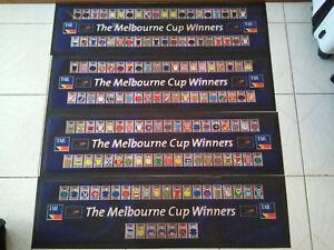 VINTAGE THE MELBOURNE CUP WINNERS 1861-2007 COLLECTORS 4x BAR PLACE MATS RARE