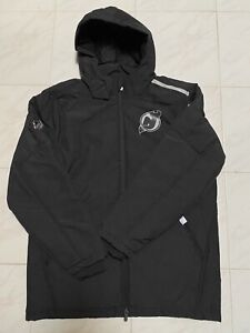 Fanatics New Jersey Devils NHL Puffer Hooded Jacket Mens L Black New