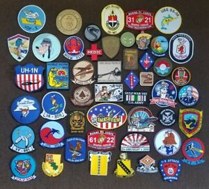 Lot of 50 Misc ARMY NAVY AIR FORCE MARINE MILITARY PATCHES