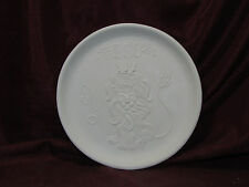 Ceramic Bisque Vintage Leo Astrology Plate Wall Hanging U-Paint Ready to Paint