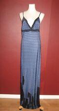 DIESEL M royal blue black polka dot  sleeveless maxi full length long dress