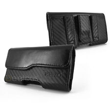FOR APPLE IPHONE 3G 3GS BLACK LUXURIOUS LEATHER POUCH CASE WITH BELT CLIP