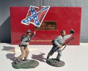 W Britains US Civil War Stonewall Brigade 5th Virginia Infantry Command 1 2 Flag