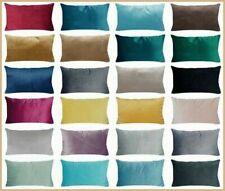 "12x20"" Soft Microfiber Velvet Home Decor PILLOW COVER Premium Sofa Cushion Case"