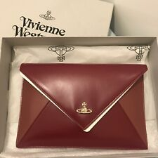 VIVIENNE WESTWOOD Envelop Leather Pouch / Clutch - Red / Pink