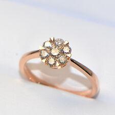 Diamantring 0,47 ct Roségold (18K) Verlobungsring Brillant Pavé Karat