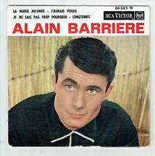 """Alain BARRIERE  Vinyl 45 tours EP 7"""" LA MARIE JOCONDE - RCA VICTOR 86023  RARE"""