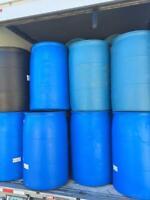 55 Gallon Plastic Drum Barrel  - Soap Barrels -Non-Food Grade