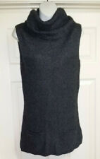 OLD NAVY M Cowl Neck Tunic Knit SLEEVELESS Sweater Top ACRYLIC ANGORA LAMBSWOOL