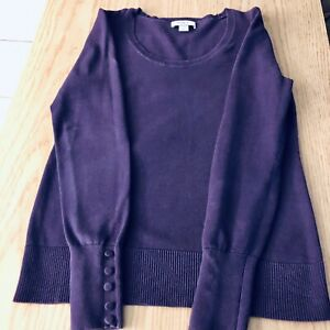 Women's Anne Taylor Loft Purple Fitted Sweater. Size Small Petite. Free Shipping