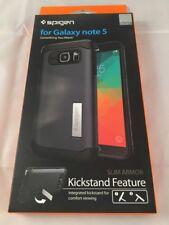 New Spigen Slim Armor with Kickstand Metal Slate Case Samsung Galaxy Note5 #g22