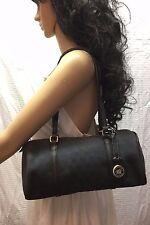 Dooney and Bourke Black Monogram Shoulder Bag w/ Hang Tag, Purse, Bag