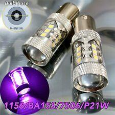 Rear Turn Signal Light 1156 BA15S 3497 1141 7506 P21W 80w LED Purple Bulb W1 E E
