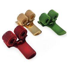 Metallo DOPPIO SUPPORTO penna con Clip tasca-Confezione da 3-ORO ANTICO, VERDE, ROSSO
