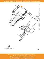 YAMAHA Protector, Muffler 1, 3VL-E4718-00 Fowlers Parts OEM